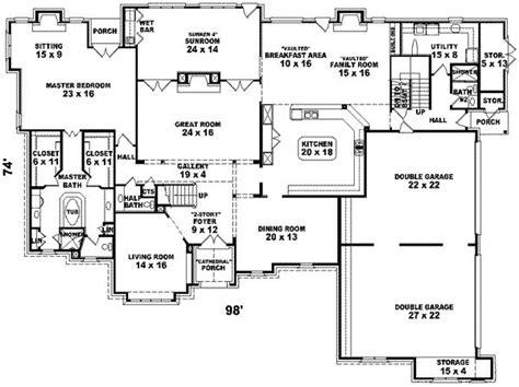 six bedroom floor plans 6 bedroom house plans