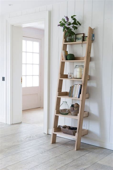 ladder shelves ideas  pinterest ladder