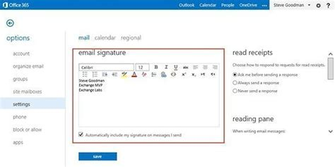 Office 365 Outlook How To Add Signature by How To Change Signature In Office 365