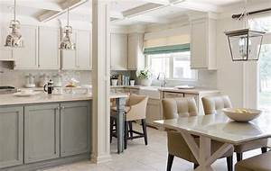 two tone kitchen transitional kitchen sherwin With kitchen cabinet trends 2018 combined with oversized safety pin wall art