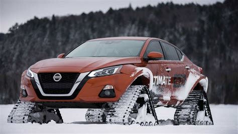 nissan altima te awd   sedan  extreme snow tracks