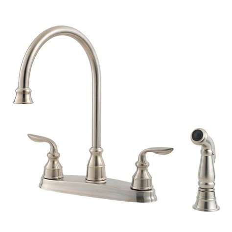 Pfister Faucets Home Depot by Pfister Marielle Single Handle Side Sprayer Kitchen Faucet