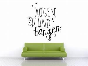 Augen Zu Und Tanzen : wandtattoo augen zu und tanzen bei ~ Watch28wear.com Haus und Dekorationen