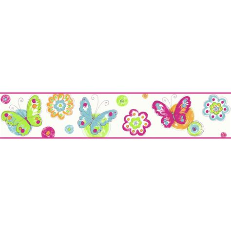 butterflies - Wallpaper & Border