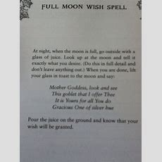 Full Moon Spell  Witches Of The Craft®