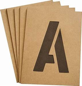 hy ko st 4 heavy duty number and letter stencil kit 4 in With letter stencil kit