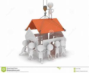 Ein Haus Bauen : leute 3d bauen ein haus stock abbildung illustration von mitarbeiter 40167396 ~ Eleganceandgraceweddings.com Haus und Dekorationen