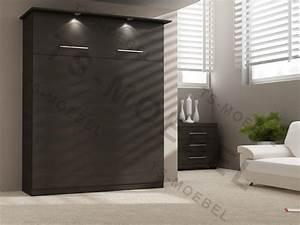 Schwarz Braune Möbel : wandbett 50 w 1 90x200 cm holzfarbe ferrara eiche schwarz ~ Michelbontemps.com Haus und Dekorationen