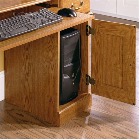 small wood computer sauder orchard hills small wood w hutch oak computer desk