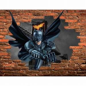 Image Trompe L Oeil : stickers trompe l 39 oeil pierre batman r f 15086 stickers ~ Melissatoandfro.com Idées de Décoration