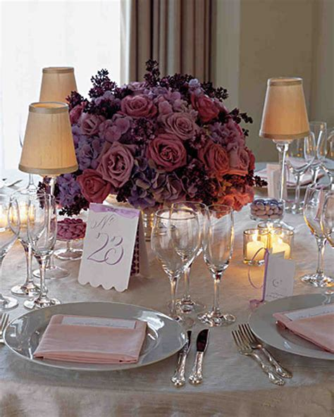 Purple And Blue Wedding Centerpieces Martha Stewart Weddings