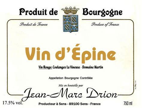 Vin d épine Artisanalife Production Familliale