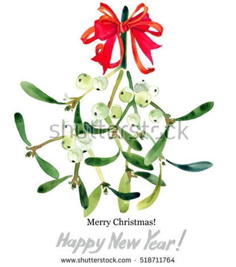 Skull Santa Claus Background Branches Mistletoe Stock Mistletoe Stock Images Royalty Free Images Vectors