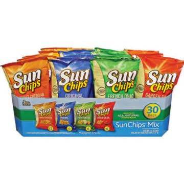 Frito Lay Sun Chips Mix Variety Pack (30 bags)