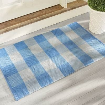 leo buffalo plaid door mat grandin road