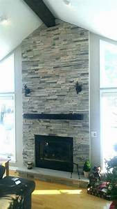 85, Stacked, Stone, Fireplace, Surround
