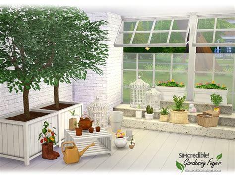 gardening foyer plants  simcredible  tsr sims  updates