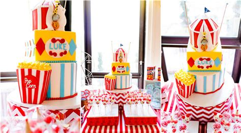 Circus Themed First Birthday Party  Pretty My Party