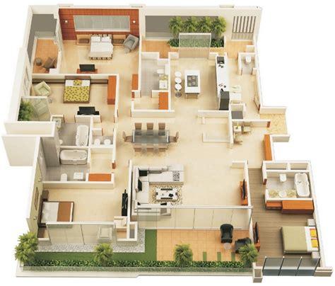 4 bedroom single story house plans casas modernas planos planos y casas