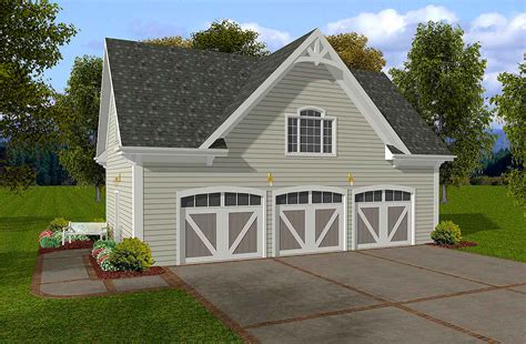 Siding Three-car Garage With Storage Above-ga