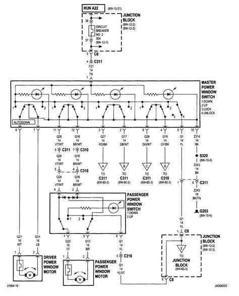 Dodge Ram Power Window Wiring Diagram by 2001 Dodge Stratus Sedan Power Windows Do Not Work On