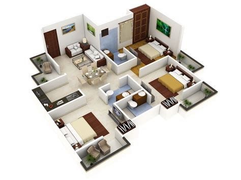1 bedroom floor plans 3 bedroom house designs 3d buscar con grandes