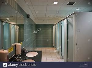 Clean modern public ladies' toilets with hand basins and ...