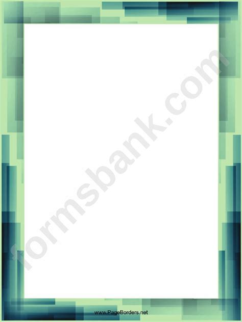 blue  green page border templates printable