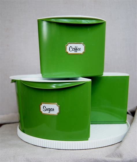 green kitchen canisters 10 best vintage retro images on avocado 1394