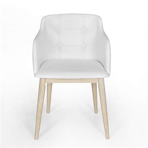 chaise blanche alinea chaise de séjour capitonnée blanche cork consoles