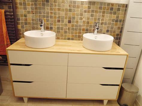 meuble de salle de bain avec meuble de cuisine meuble salle de bain vasque bidouilles ikea