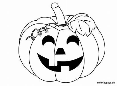 Pumpkin Halloween Coloring Pumpkins Drawing Pages Drawings