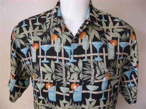 Dildoing Poker With Classy 3d Kitty Mens Pierre Cardin Negress Rayon Size M Tiki Drink Bamboo