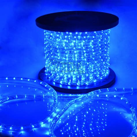 blue led rope light 110v home decorative