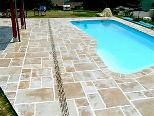 terrasse piscine en pierre With exceptional amenagement tour de piscine 3 amenagement de vos piscines margelles tour de piscine