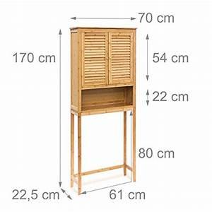 Regal Für Waschmaschine : relaxdays berschrank lamell bambus hbt 170 x 70 x 22 5 cm bad schrank mit fl gelt r badregal ~ Sanjose-hotels-ca.com Haus und Dekorationen