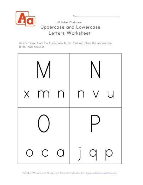 uppercase lowercase worksheet mnop english worksheets