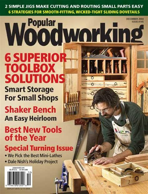 december  popular woodworking magazine