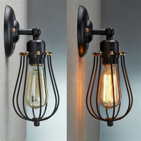 wall sconce vintage industrial loft rustic cage sconce wall light wall
