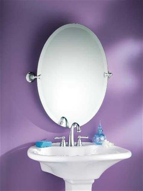 Moen Dn2692ch Glenshire Bathroom Oval Tilting Mirror