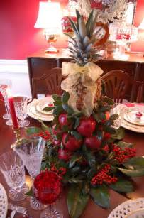 christmas tablescape with lenox holiday and a colonial williamsburg apple tree centerpiece