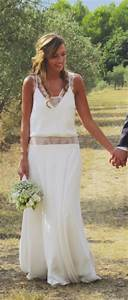 robe de mariee boheme chic my wedding pinterest With mariage boheme chic robe