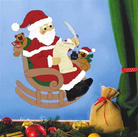 basteln weihnachten tonpapier fensterbild lieber guter weihnachtsmann fischer fensterbilder