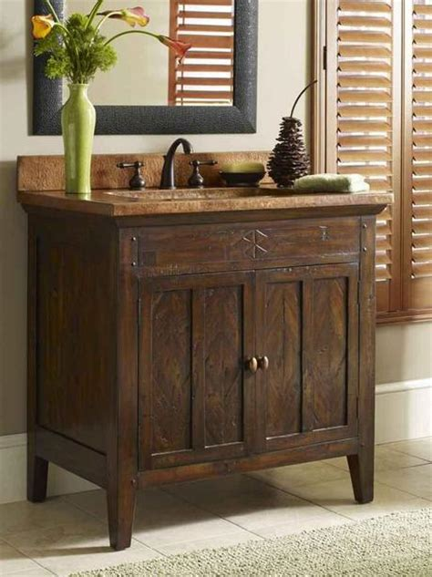 Country Vanity by Tuscan Inspired Bathroom Design Paperblog