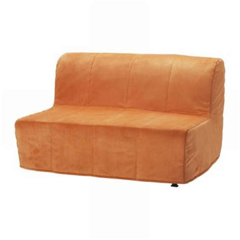 ikea lycksele sofa bed slipcover cover henan orange quilted