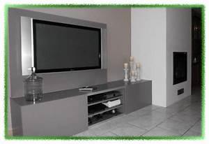 Idee Meuble Tv Fait Maison : meuble tv fait maison ronny et vero ~ Melissatoandfro.com Idées de Décoration