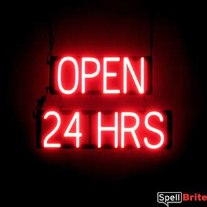 open  hrs  row sign spellbrite led   neon