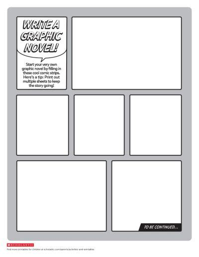 Hi folks this is part 1 on how you can write a graphic novel. Create Your Own Graphic Novel Template | Worksheets ...