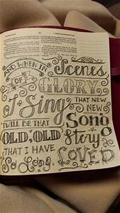 bible journaling hand lettering of hymn journaling bible With hand lettering bible journaling