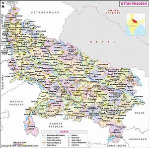 Uttar Pradesh Map, State, Divisions and District ...